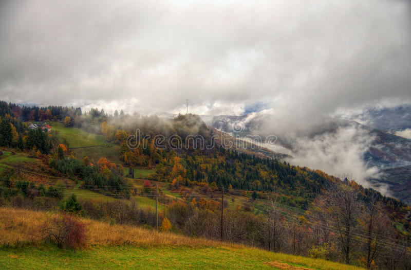 outono na montanha, Sérvia ocidental fotografia de stock royalty free