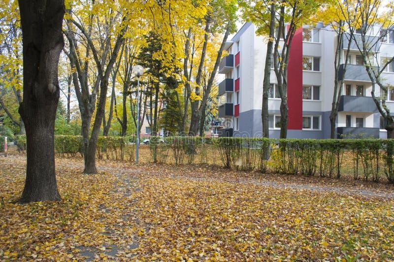 outono na vizinhança 3 foto de stock royalty free