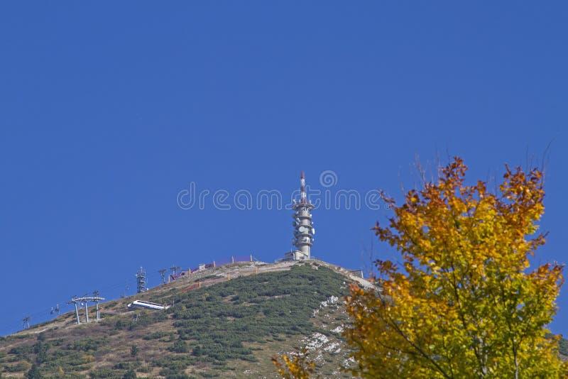outono nas montanhas de Bondone foto de stock