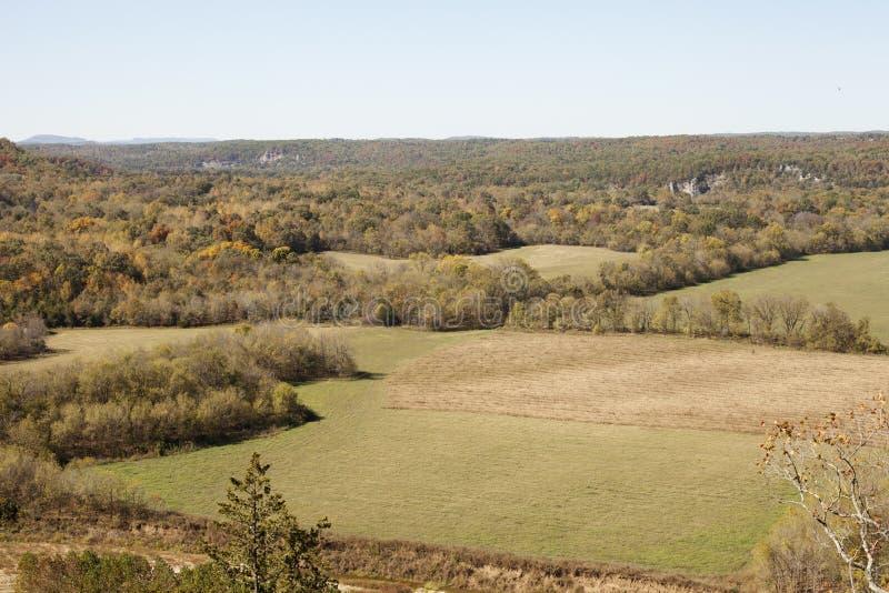 Outono nas montanhas de Ozark imagem de stock royalty free