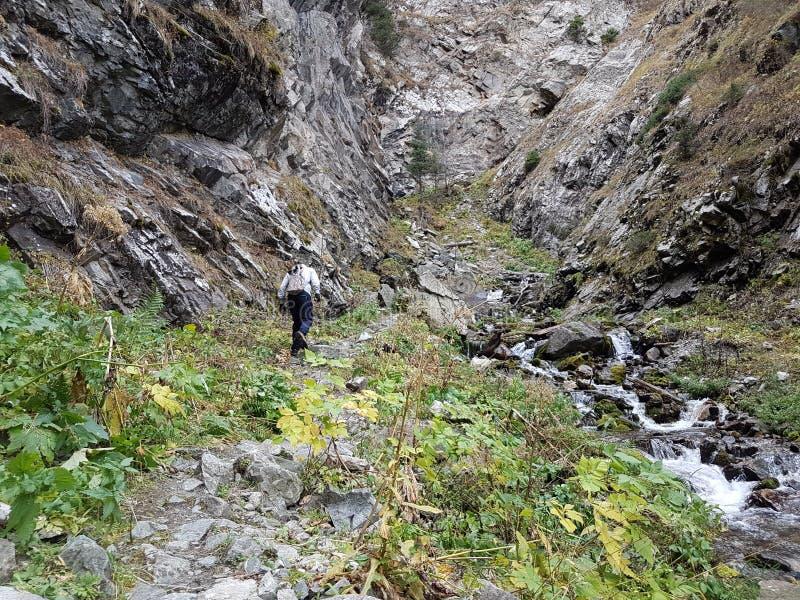 outono no desfiladeiro da montanha imagens de stock royalty free