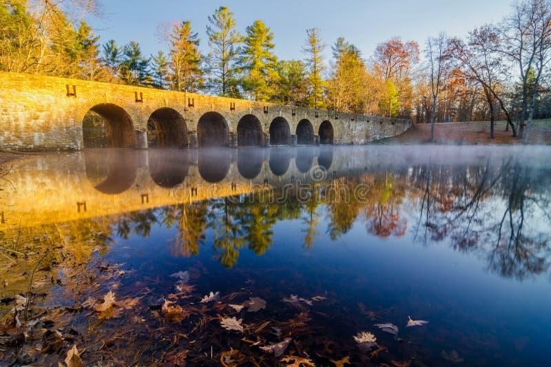 outono no lago Byrd foto de stock royalty free