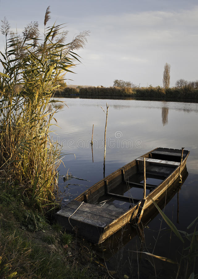 Outono no rio imagem de stock