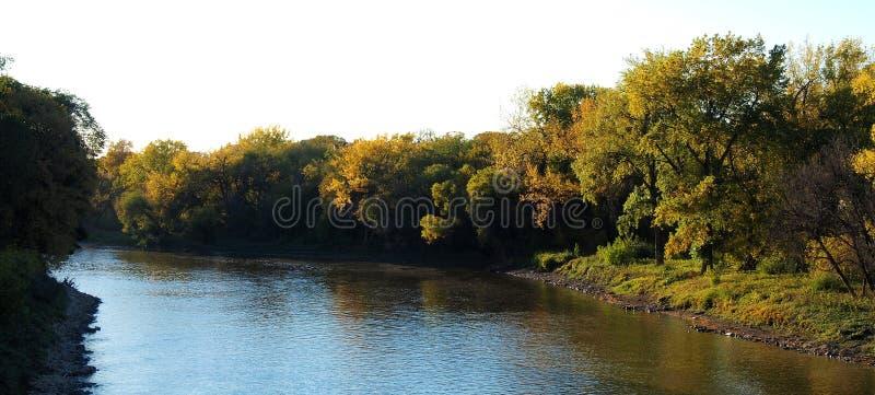 outono no rio de Assiniboine imagem de stock royalty free