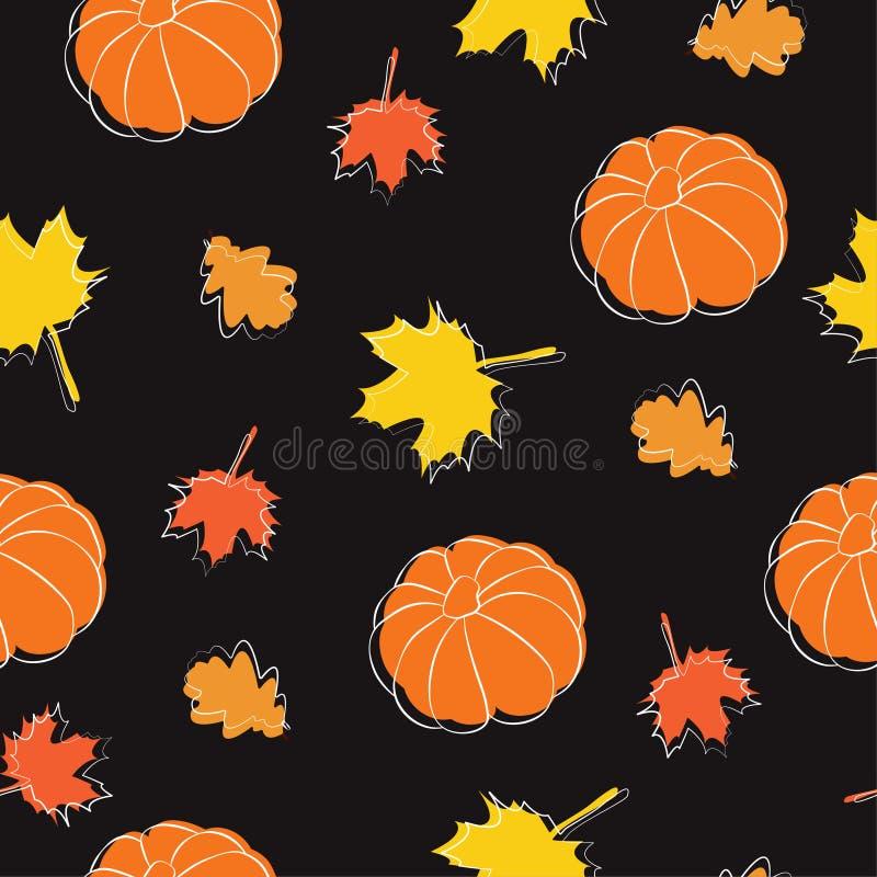 outono pattern2 ilustração do vetor