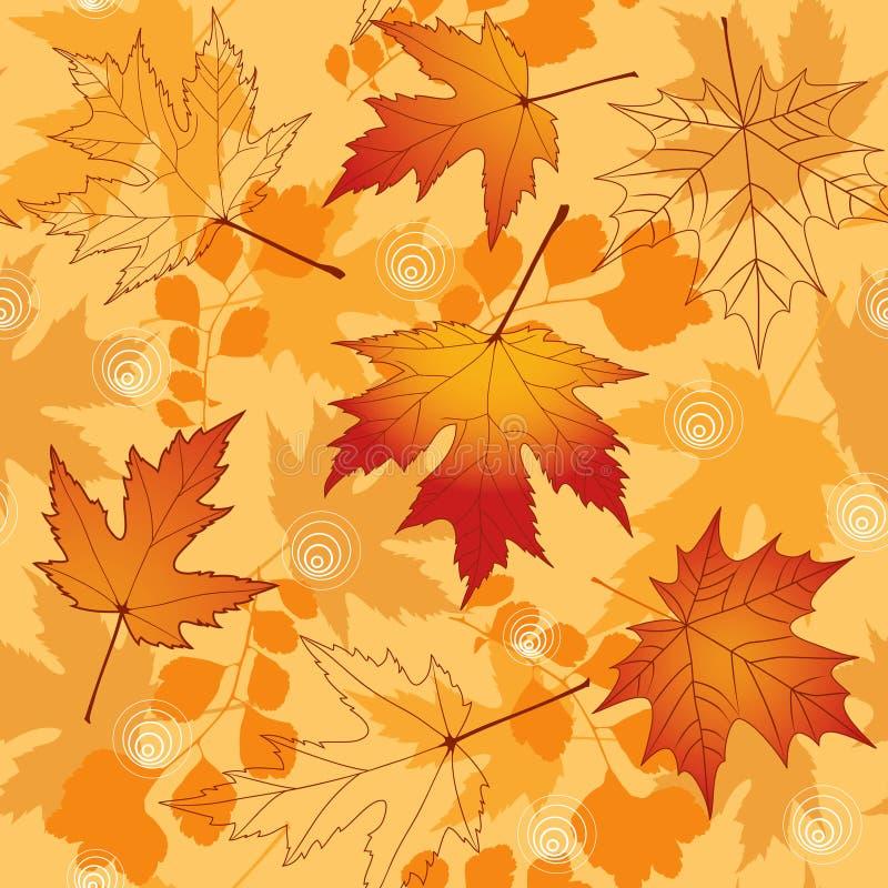 Outono sem emenda. Ilustração do vetor. ilustração stock