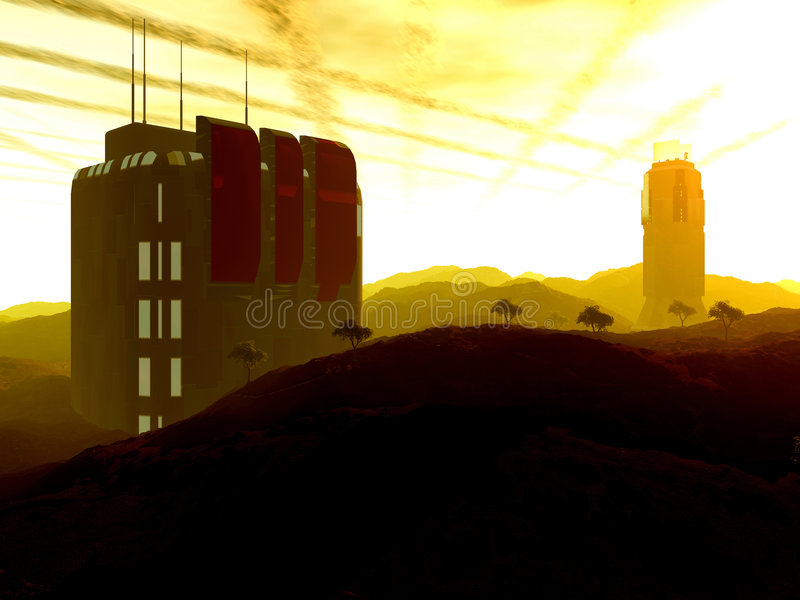 Download Outpost beta stock illustration. Image of research, nasa - 29018