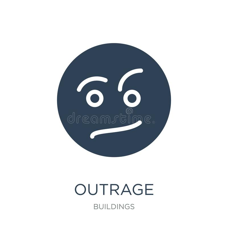 outrage icon in trendy design style. outrage icon isolated on white background. outrage vector icon simple and modern flat symbol royalty free illustration