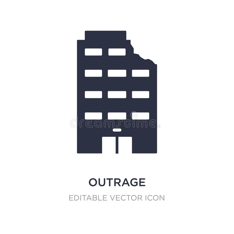 outrage icon on white background. Simple element illustration from Buildings concept vector illustration
