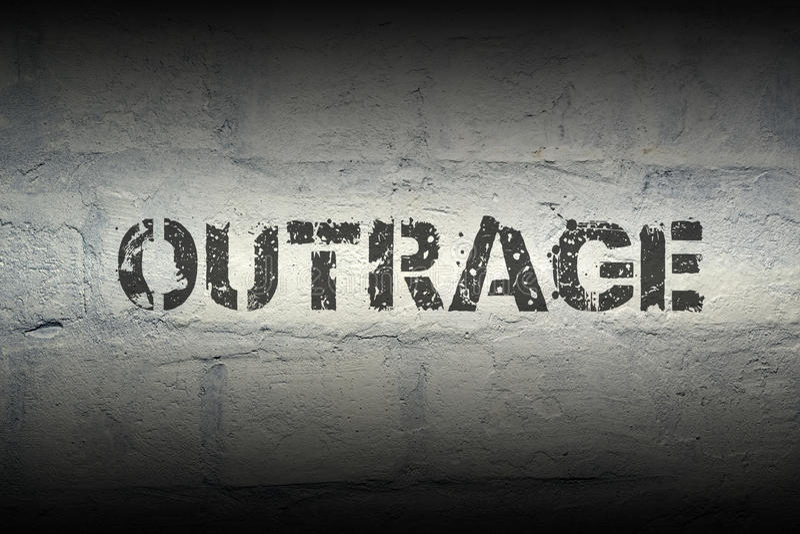 Outrage WORD GR photo libre de droits