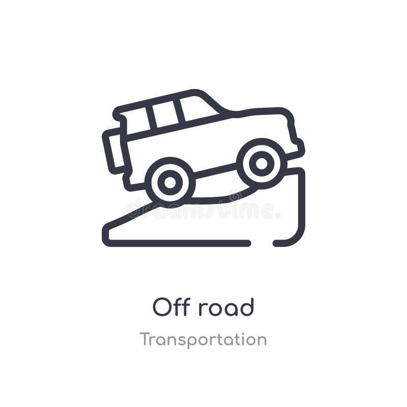 outre de l'icône d'ensemble de route ligne d'isolement illustration de vecteur de collection de transport course mince editable o illustration libre de droits