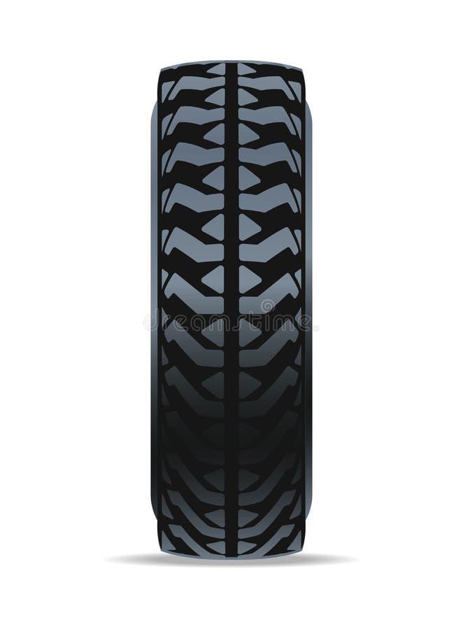 Outre de l'icône de pneu en caoutchouc de route illustration libre de droits