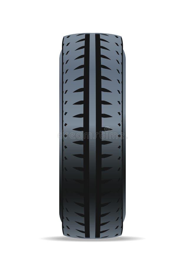 Outre de l'icône de pneu de voiture de route illustration de vecteur