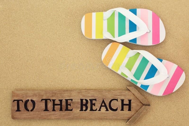Outre de ? la plage images stock