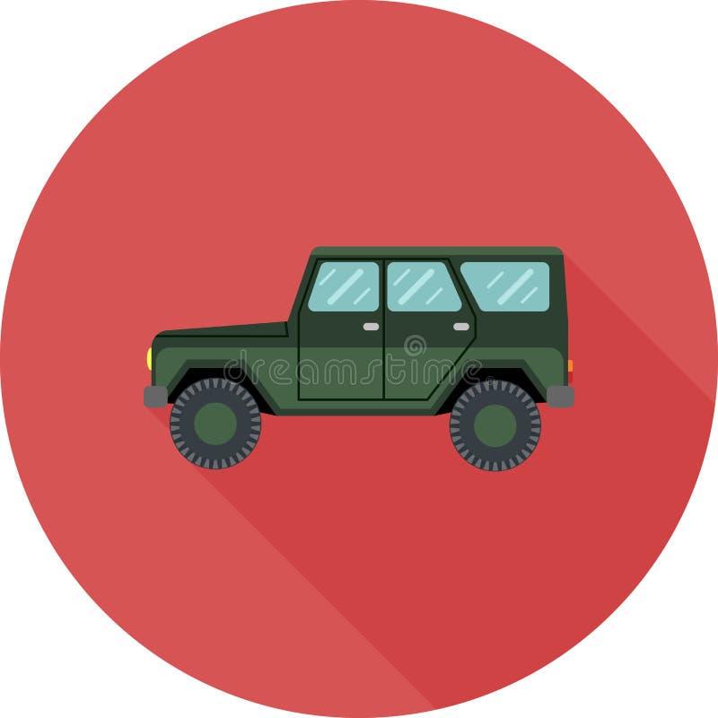 Outre de la voiture de route dans la conception plate avec la longue ombre photo libre de droits