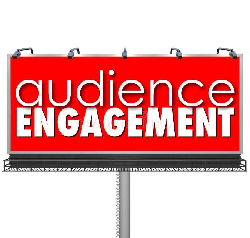 Outreach de los clientes de la publicidad de la cartelera de Engagment de la audiencia stock de ilustración