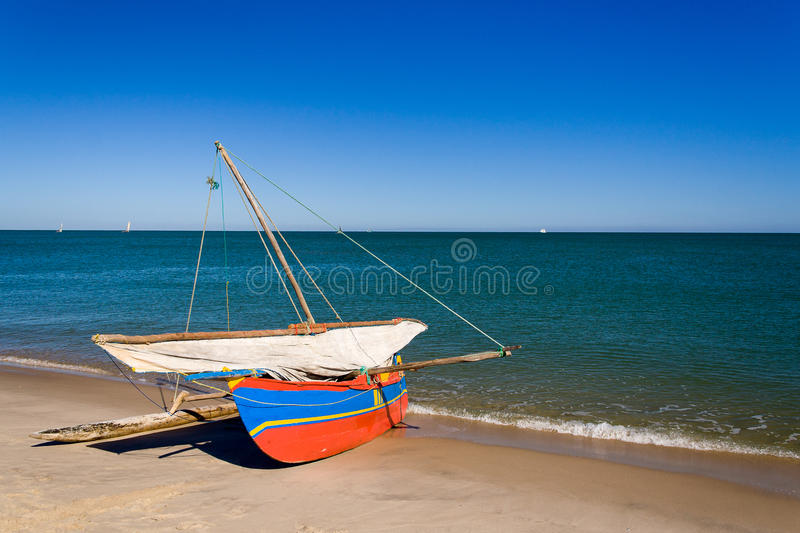 Download Outrigger canoe stock image. Image of outrigger, transportation - 23585945