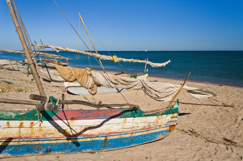 Outrigger Canoes Stock Photography