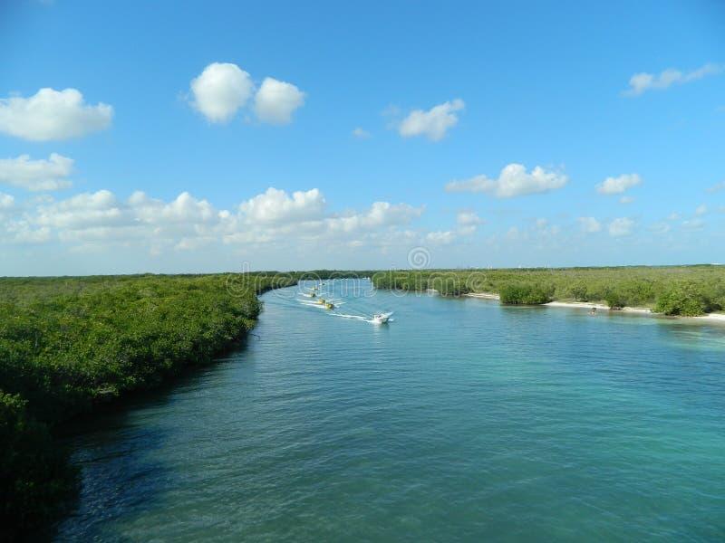 Outro em um dos lagos os mais famosos em cancun fotos de stock royalty free