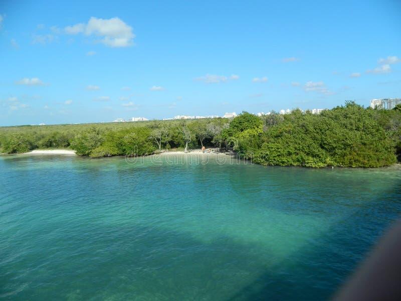 Outro em um dos lagos os mais famosos em cancun imagens de stock royalty free