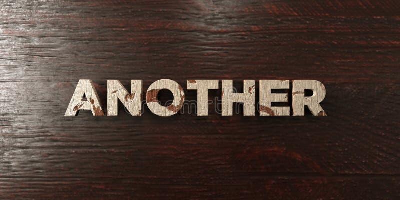 Outros - título de madeira sujo no bordo - 3D renderam a imagem conservada em estoque livre dos direitos ilustração stock