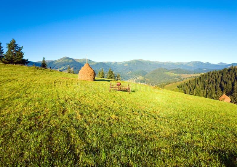Outscirts da aldeia da montanha do verão imagens de stock