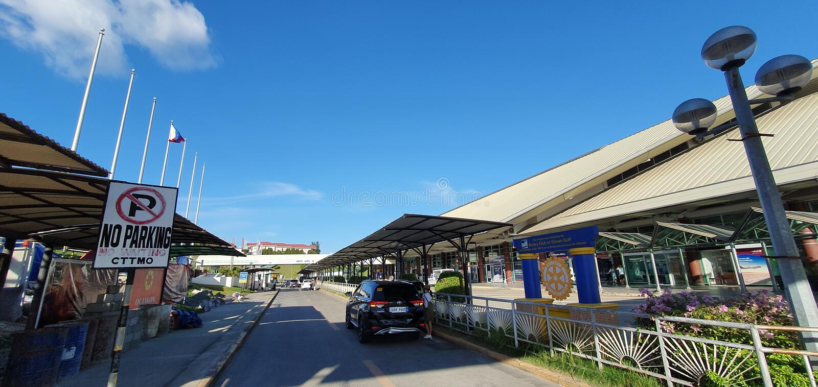 Outside Airport of Davao City, Philippines stock photo