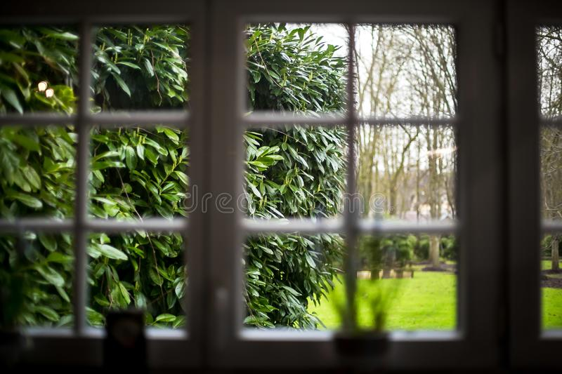 Cloudy still morning in French style royalty free stock image