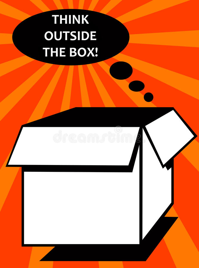 Outside the box royalty free illustration