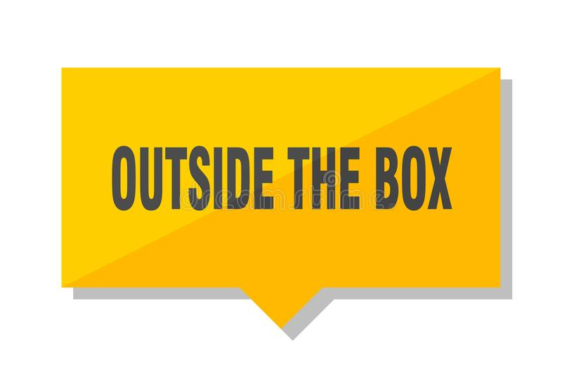 Outside the box price tag stock illustration
