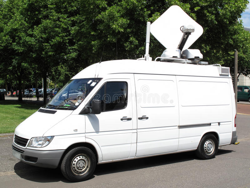Download Outside broadcast van stock photo. Image of news, antenna - 40244446
