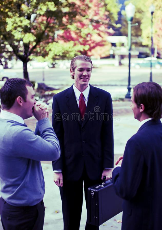 Outside business team royalty free stock photos
