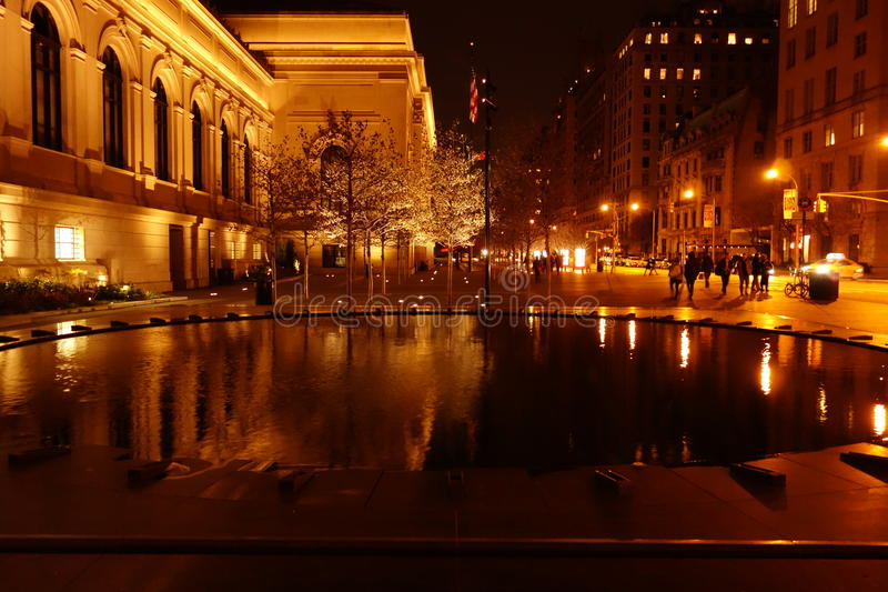 Outside The Metropolitan Museum Of Art 23. These photos were taken on the main steps of the museum around 9pm on November of 2014 royalty free stock photo