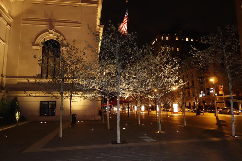 Outside The Metropolitan Museum Of Art 19. These photos were taken on the main steps of the museum around 9pm on November of 2014 stock image