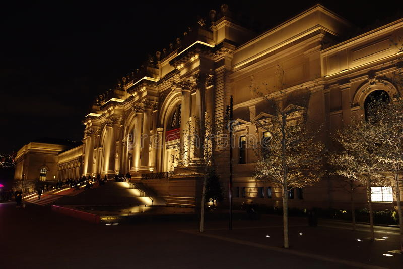Outside The Metropolitan Museum Of Art 17. These photos were taken on the main steps of the museum around 9pm on November of 2014 royalty free stock image
