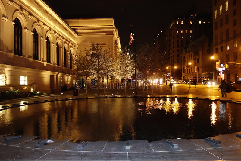 Outside The Metropolitan Museum Of Art 15. These photos were taken on the main steps of the museum around 9pm on November of 2014 stock photo