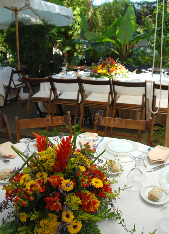 Download Outside party stock image. Image of table, garden, color - 3835069