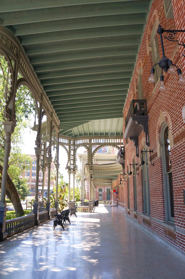 Outside of the Plant Hall of University of Tampa in Tampa, Florida stock images