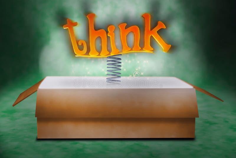 outside pudełkowata myśl zdjęcie royalty free