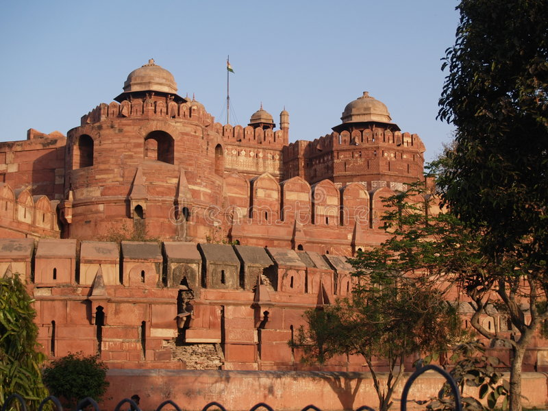 Download Outside The Red Fort In Agra, India Stock Photo - Image: 5593920