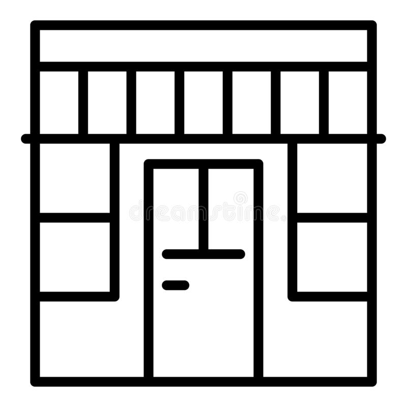 Outside store icon, outline style. Outside store icon. Outline outside store vector icon for web design isolated on white background vector illustration