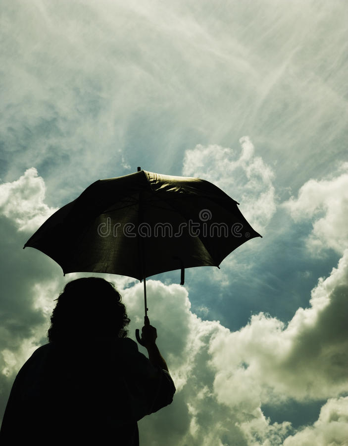Download Outside In The Storm stock image. Image of outdoors, silhouettes - 14845953