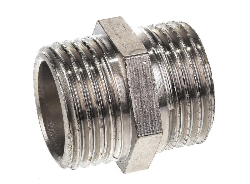 1/2` outside thread to 1/2` external thread adapter royalty free stock photography