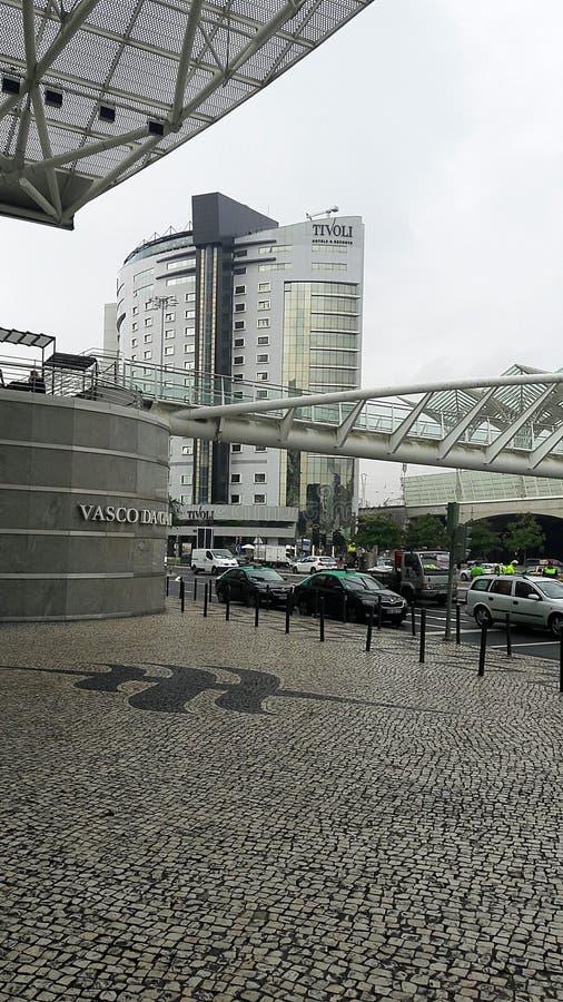 Outside Vasco da Gama Shopping Mall royalty free stock image