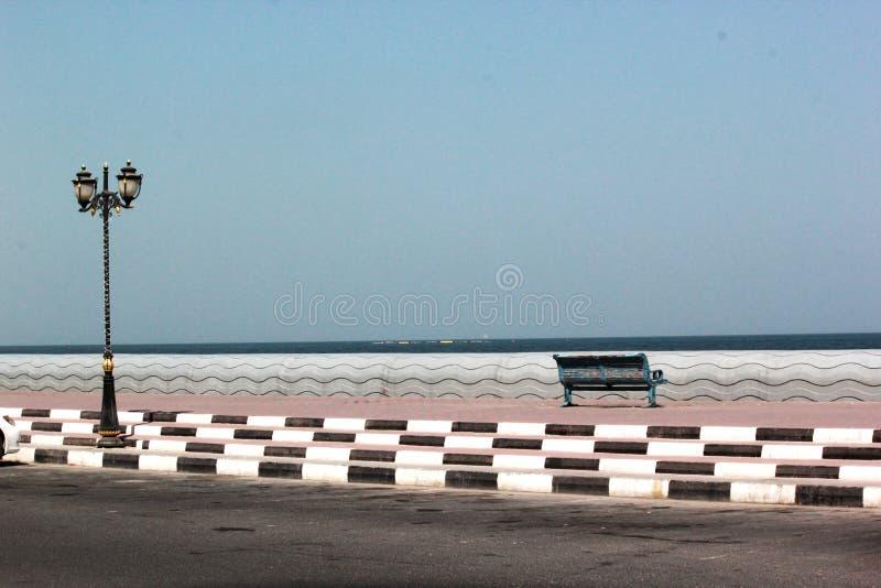 Outside view of Ajman corniche ,UAE stock photos