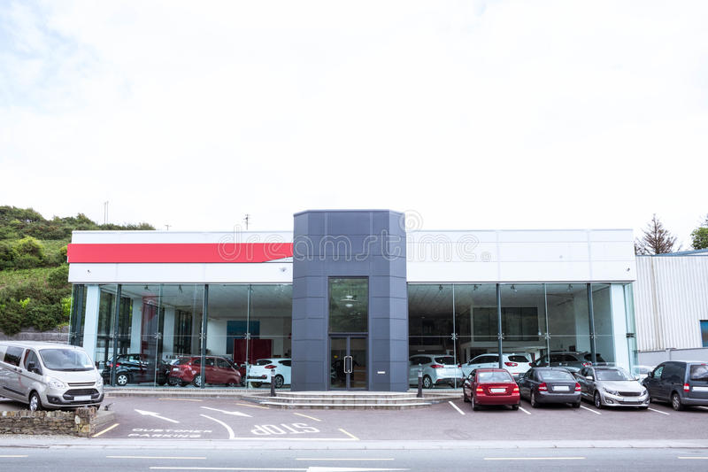 Download Outside View Of Car Dealership Stock Image - Image of coupe, bright: 61439885