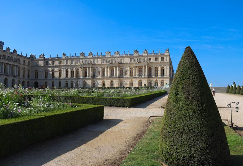 Outside view of Famous palace Versailles. The Palace Versailles was a royal castle. stock image