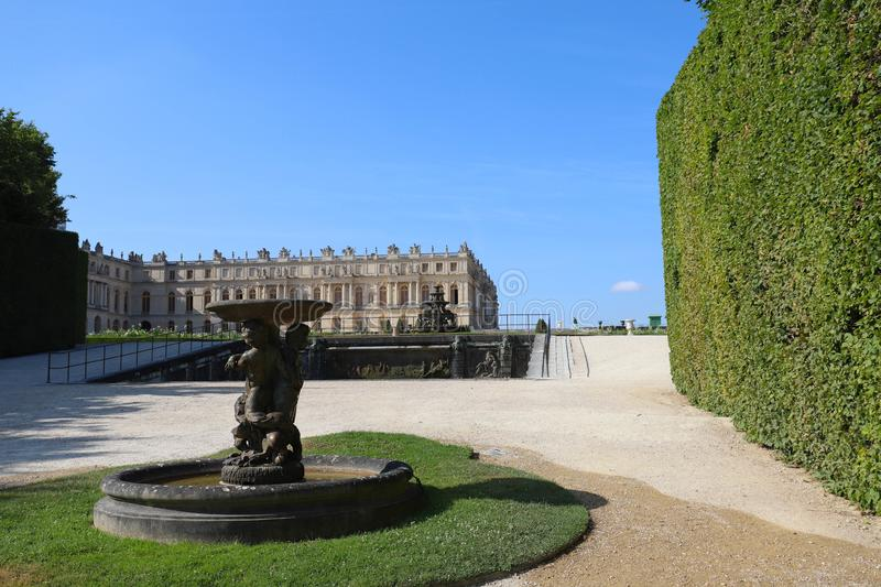Outside view of Famous palace Versailles. The Palace Versailles was a royal castle. stock images