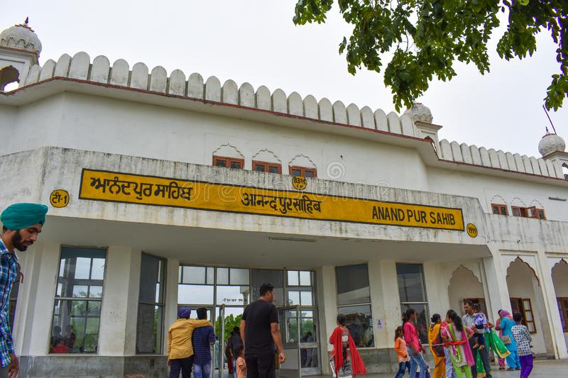 Outside view of an indian railway staion in Sri ganganagar. Outside view of an Indian railway station in Sri Ganganagar royalty free stock photos