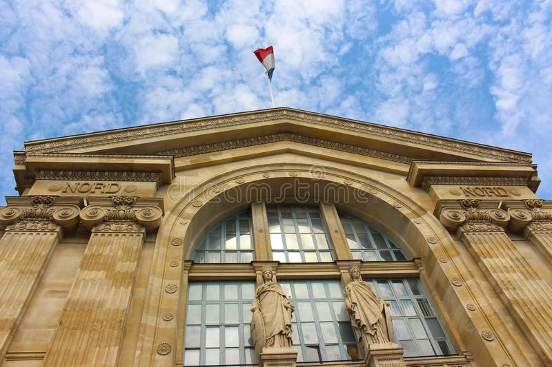 Paris North Station, Gare du Nord in Paris royalty free stock image